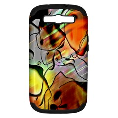 Abstract Pattern Texture Samsung Galaxy S III Hardshell Case (PC+Silicone)