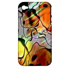 Abstract Pattern Texture Apple iPhone 4/4S Hardshell Case (PC+Silicone)