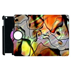 Abstract Pattern Texture Apple Ipad 2 Flip 360 Case
