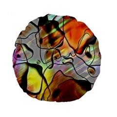 Abstract Pattern Texture Standard 15  Premium Round Cushions