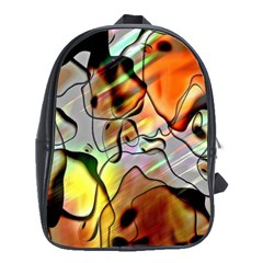 Abstract Pattern Texture School Bags (XL)