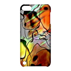 Abstract Pattern Texture Apple Ipod Touch 5 Hardshell Case With Stand