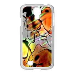 Abstract Pattern Texture Samsung GALAXY S4 I9500/ I9505 Case (White)