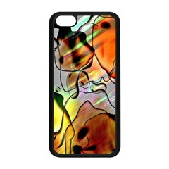 Abstract Pattern Texture Apple Iphone 5c Seamless Case (black)