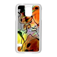 Abstract Pattern Texture Samsung Galaxy S5 Case (white)