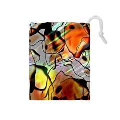 Abstract Pattern Texture Drawstring Pouches (Medium)