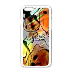 Abstract Pattern Texture Apple iPhone 6/6S White Enamel Case