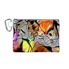 Abstract Pattern Texture Canvas Cosmetic Bag (m)