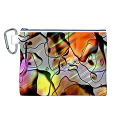 Abstract Pattern Texture Canvas Cosmetic Bag (L)