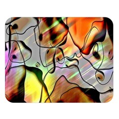 Abstract Pattern Texture Double Sided Flano Blanket (large)