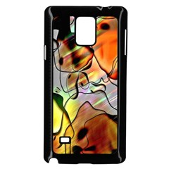 Abstract Pattern Texture Samsung Galaxy Note 4 Case (Black)