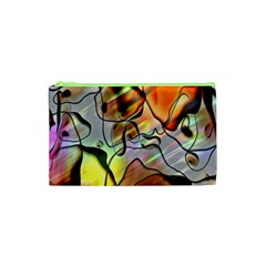 Abstract Pattern Texture Cosmetic Bag (XS)