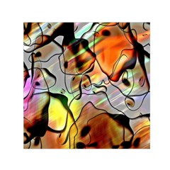 Abstract Pattern Texture Small Satin Scarf (Square)