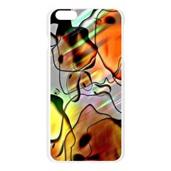 Abstract Pattern Texture Apple Seamless iPhone 6 Plus/6S Plus Case (Transparent)