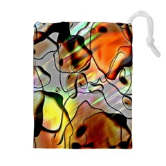 Abstract Pattern Texture Drawstring Pouches (Extra Large)
