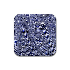 Aliens Music Notes Background Wallpaper Rubber Square Coaster (4 pack)