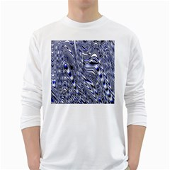 Aliens Music Notes Background Wallpaper White Long Sleeve T Shirts