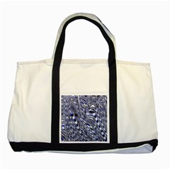 Aliens Music Notes Background Wallpaper Two Tone Tote Bag