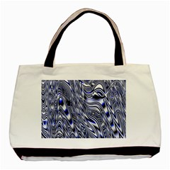 Aliens Music Notes Background Wallpaper Basic Tote Bag (two Sides)