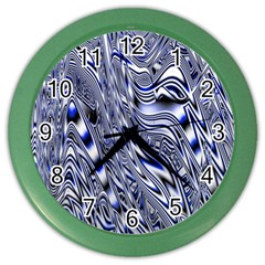 Aliens Music Notes Background Wallpaper Color Wall Clocks