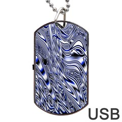 Aliens Music Notes Background Wallpaper Dog Tag USB Flash (One Side)