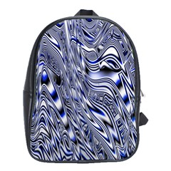 Aliens Music Notes Background Wallpaper School Bags (XL)