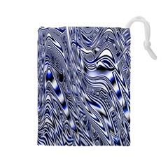 Aliens Music Notes Background Wallpaper Drawstring Pouches (large)