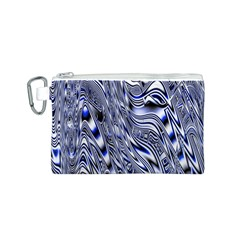 Aliens Music Notes Background Wallpaper Canvas Cosmetic Bag (S)