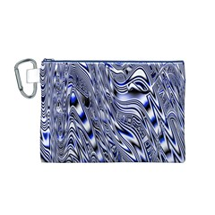Aliens Music Notes Background Wallpaper Canvas Cosmetic Bag (m)