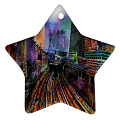 Downtown Chicago City Ornament (star)