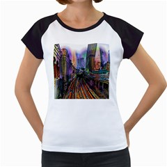 Downtown Chicago City Women s Cap Sleeve T