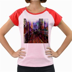 Downtown Chicago City Women s Cap Sleeve T-Shirt