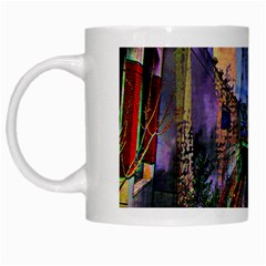 Downtown Chicago City White Mugs