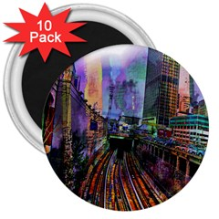 Downtown Chicago City 3  Magnets (10 Pack)
