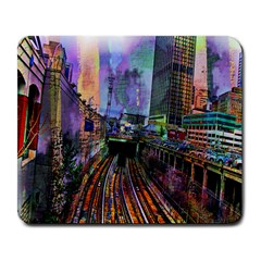 Downtown Chicago City Large Mousepads