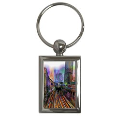 Downtown Chicago City Key Chains (rectangle)