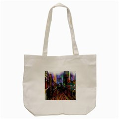 Downtown Chicago City Tote Bag (cream)