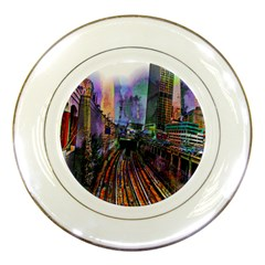 Downtown Chicago City Porcelain Plates