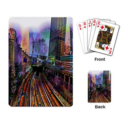 Downtown Chicago City Playing Card