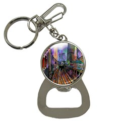 Downtown Chicago City Button Necklaces