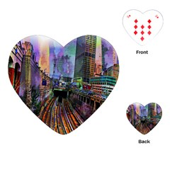 Downtown Chicago City Playing Cards (Heart)