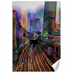Downtown Chicago City Canvas 12  X 18
