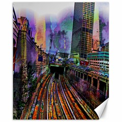Downtown Chicago City Canvas 16  x 20