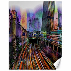 Downtown Chicago City Canvas 18  X 24