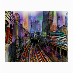 Downtown Chicago City Small Glasses Cloth (2 Side)