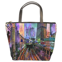Downtown Chicago City Bucket Bags