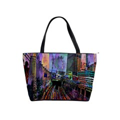 Downtown Chicago City Shoulder Handbags