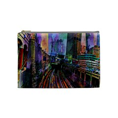 Downtown Chicago City Cosmetic Bag (medium)