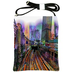 Downtown Chicago City Shoulder Sling Bags