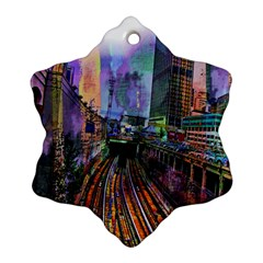 Downtown Chicago City Ornament (Snowflake)